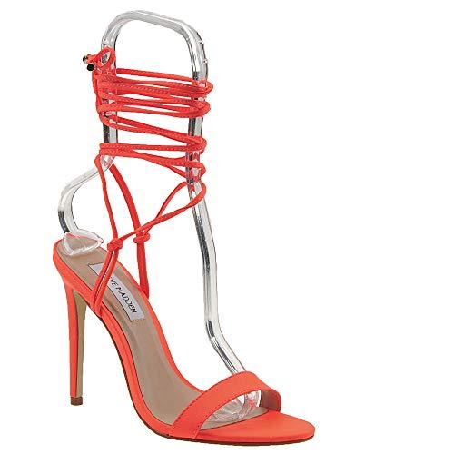 Steve Madden Women's Level Heeled Sandal Orange Neon 8 M US