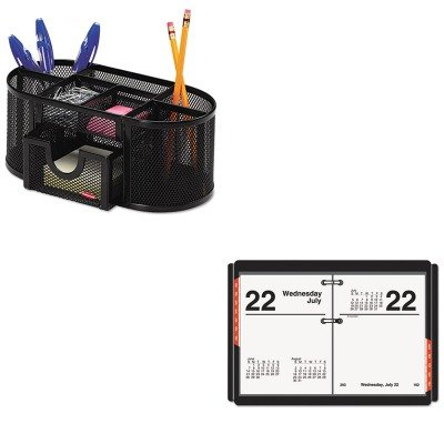 KITAAGE91950ROL1746466 - Value Kit - At-a-Glance Recycled Compact Desk Calendar Refill (AAGE91950) and Rolodex Mesh Pencil Cup Organizer (ROL1746466)