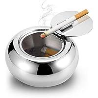 Cenicero A Prueba De Viento Con Tapa, CoWalkers Cenicero De Cigarrillos Para Uso Interior O Exterior, Cenicero Del…