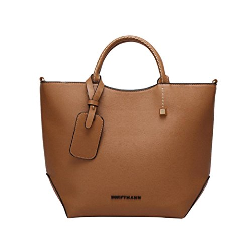 Hot Sale! Women Handbags, Neartime Fashion Casual Leather Square Shoulder Messenger Bag Satchel Zipper Tote Bags (❤️37cm(L)×12cm(W)×28cm(H), Brown) ()