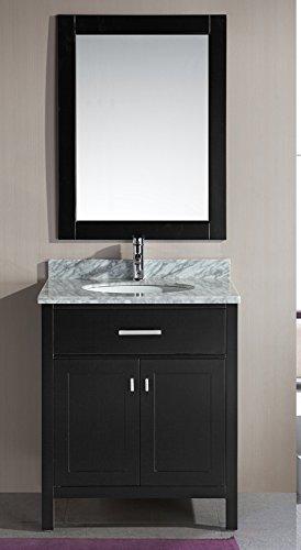 Superior Design Element DEC076E London 30 Inch Single Sink Vanity Set, Espresso