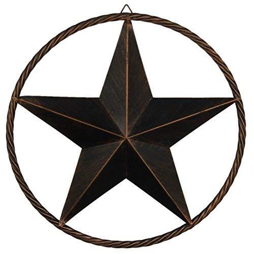 EBEI Metal Barn Star Circle Rustic Style Decorative 31.5
