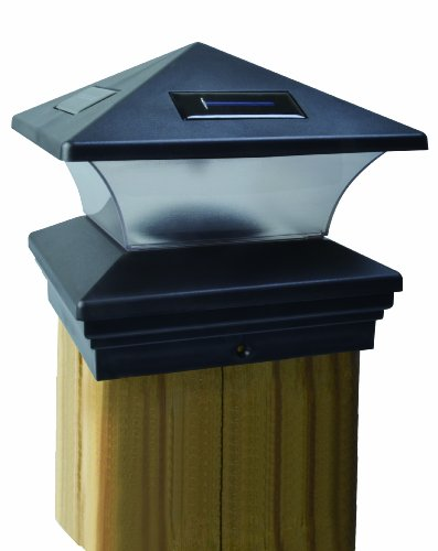 Moonrays 91268 Solar-Powered Post Cap LED Light for 6 by 6 Posts (Set Outdoor Lantern Post)