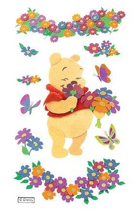 Disney 3d Stkr Pooh/Flowers