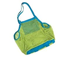 Beach Mesh Bag Tote - YSLF Beach Necessaries/ Beach Toys/ Shell Bag/ Toys Bag Stay Away from Sand, Perfect for Holding Toys, Balls, or Other Beach Items