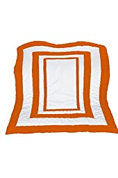 Baby Doll Bedding  Modern Hotel Style Crib Comforter, Orange