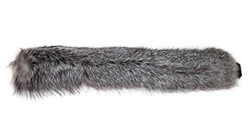 416166 New Natural Indigo Fox Fur Headband Hat Collar Head Wrap Cute Accessory by Bergama