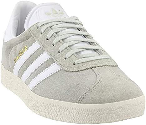 adidas Mens Gazelle Linen Green Footwear White Suede
