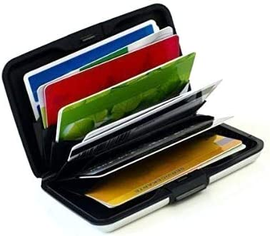 porte carte bancaire sécurisé MaxBox – étui pour cartes de crédit en aluminium argenté, porte