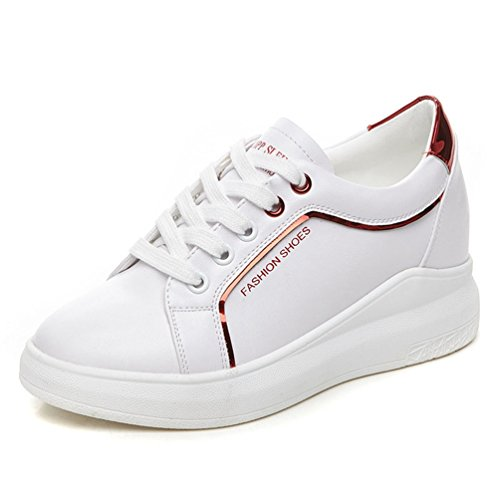 rojo blanco Deporte Zapatillas y de JRenok Mujer qnWpwPRYRI