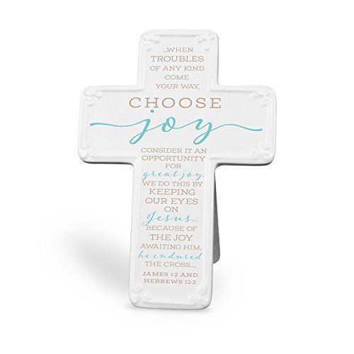 Ceramic Wall Cross (Lighthouse Christian Products 4.75