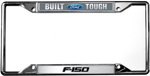 Compatible Logo License Plate for Ford F-150 Chrome on Black INC Au-Tomotive Gold