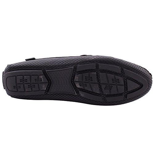 Size Negro Slip Texturizado Hombres SHEA Formal Noche Unze 6 Los EN UK Mocasines 11 wAqvaaB