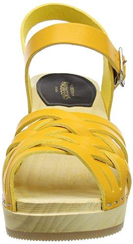 Swedish Hasbeens Braided High - Sandalias Mujer Yellow (Warm Yellow)