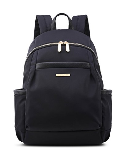 Small Fashion Backpack Purse For Women Girls lightweight Mini College School Bag (Small, Black(Golden Color Zipper)) (Classic Mini Satchel)