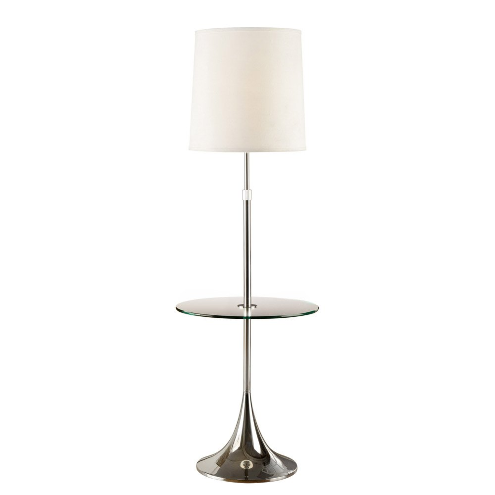 Artiva USA Enzo, Adjustable 52 to 65-inch Modern Chrome Floor Lamp with Tempered Glass Table by Artiva USA