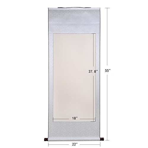 UPC 709886333577, JZ003 Hmay kakejiku Blank Mounting Hanging Scroll Chinese Rice Xuan Paper Art Wall Scrolls for Sumie and Calligraphy (55 Inch) (3)