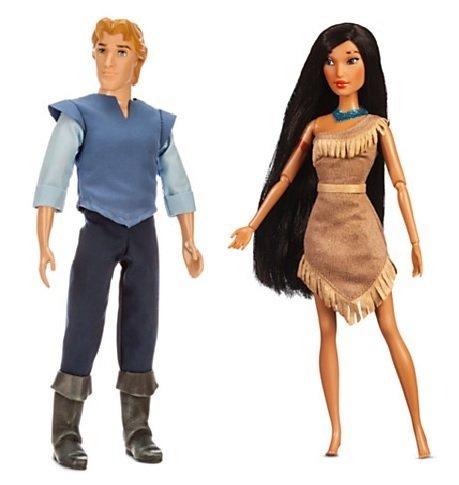 Disney Pocahontas Doll Set - Pocahontas and Captain John Smith (John Smith Disney Costumes)