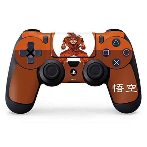 Skinit Dragon Ball Z PS4 Controller Skin - Goku Orange Monochrome Design - Ultra Thin, Lightweight Vinyl Decal Protection