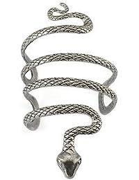 New Vintage Style Silver Snake Bracelet Shape Open Bangle Cuff Arm Snake Armlet