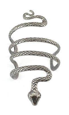 New Vintage Style Silver Snake Bracelet Shape Open Bangle Cuff Arm Snake Armlet -