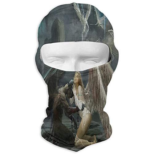 (IDO Fallen Angel Full Face Masks UV Balaclava Hood Ski Headcover Motorcycle Neck Warmer Tactical Hood for Cycling Outdoor Sports Snowboard)