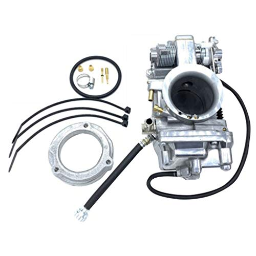 Topker Motorcycle Engine HSR42mm Carburetor Replacement for Davidson Evo Twin Cam TM42 90-96 883 by Topker (Image #6)
