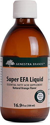 Genestra Brands - Super EFA Liquid - Supports Cardiovascular, Brain, Eyes, and Nerves* - Natural Orange Flavor - 16.9 fl oz (500 ml) by Genestra Brands