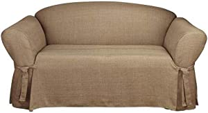 SureFit Home Décor SF40458 Relaxed Fit, Polyester, Machine Washable, One Piece, Cocoa Color