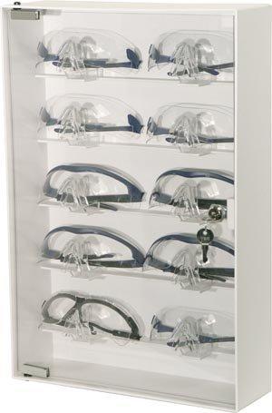 BOWMAN CP-075 Eyewear Cabinet, Locking, 20.00'' Height, 13.50'' Width, 4.13'' Length