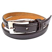 LADIES SKINNY LEATHER BELT DESIGNED BY MILANO IN 4 COLOURS 2783