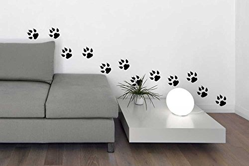 Boxer Dog Mint (Dog Wall Decals - Paw Prints,Footprints Vinyl Decor Stickers for Animal Lovers, Pet Stores,)