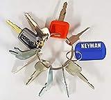 10 Keys Heavy Equipment / Construction Key Set John Deere, Fiat, Case, New Holland, Hitachi,Bobcat,Caterpiller more