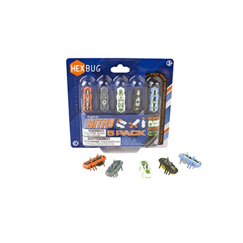 HEXBUG Nano Nitro 5 Pack Toy (Hex Bugs Glow In The Dark)