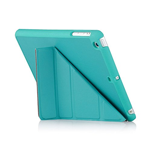 Pipetto Case for iPad Mini 2, 3, Origami Smart Case with 5 in 1 Folding Positions & Auto Sleep/Wake Function, Compatible with Apple iPad Mini 2/3 - Turquoise ()