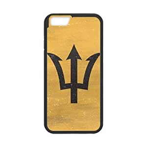 iPhone 6 Plus 5.5 Inch Cell Phone Case Black Barbados Flag Distressed JSK643131