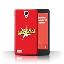 STUFF4 Phone Case / Cover for Xiaomi Redmi Note 4G / Bazinga! Geeky Design / Funny Nerdy Sitcom TV Collection