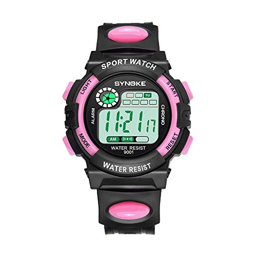 Fxbar,Men Sport Watch Waterproof Alarm Sport Analog Dive Watch Dress Watch(Pink)