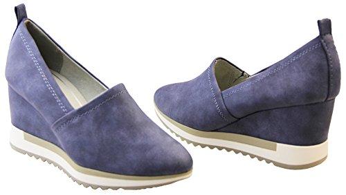 Tozzi Navy à talon talons Femmes Marco Chaussures S0xwnzw5q