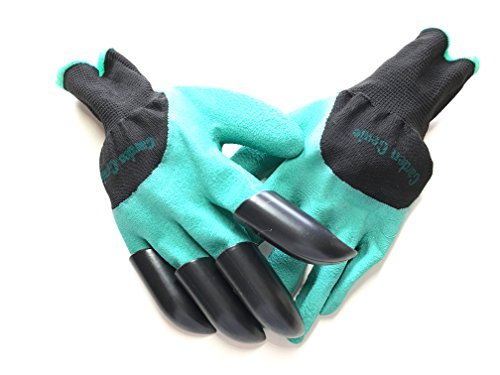 Garden Genie Gloves Right Hand With Sturdy Claws Easy to Dig Rake Plant Unisex One Size Fit All As Seen On TV 1 Pair