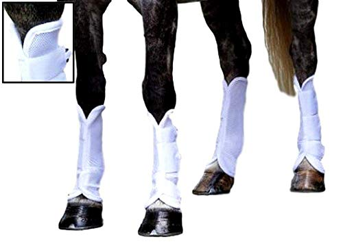 Shires, Airflow Turnout Socks White Cob