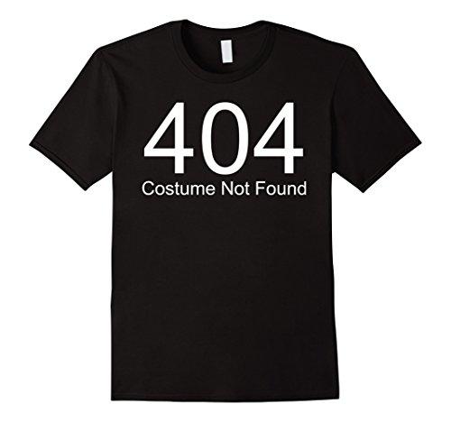 Mens 404 Costume Not Found Genius Last minute Halloween Costume Large (Clever Halloween Costumes Last Minute)