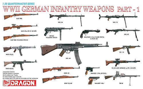 (Dragon Models 1/35 WWII German Infantry Weapons Part 1 Dragon Model Kits)