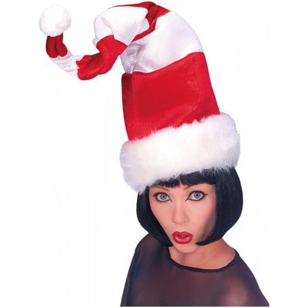 Santa Two Color Wired Hat Costume Accessory