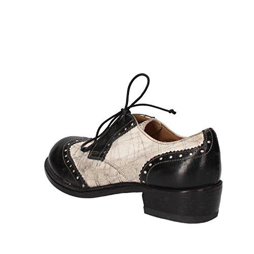 de lacets Chaussures femme pour Blanc ville à MOMA Noir qdx5Ywqa