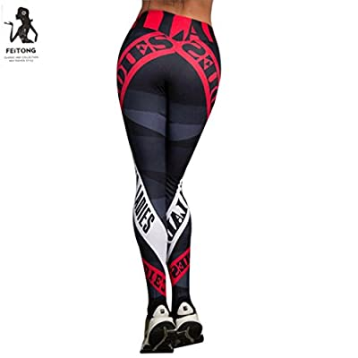 2018 Women Sports Gym Yoga Workout Mid Waist Running Pants Fitness Elastic Leggings by TOPUNDER