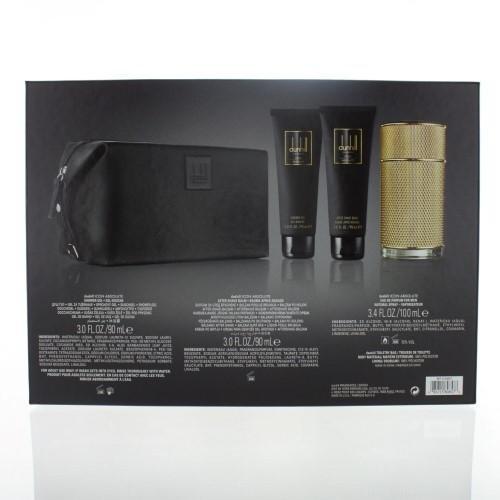 Dunhill Icon Absolute By Dunhill 4 Piece Gift Set - 3.4 Oz Eau De Parfum Spray, 3.0 Oz After Shave Balm, 3.0 Oz Shower G