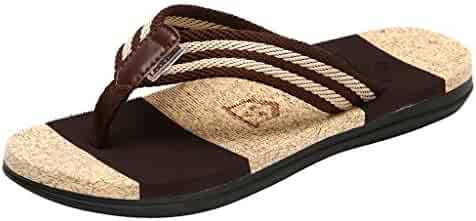 ddba76a571b Men s Flops Slippers HOSOME Men Fashion Couples Casual Flat Flip Beach  Striped Women Shoes