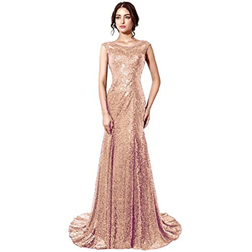 Rose Gold Prom Silvers: Modest Prom Dress: Amazon.com