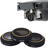 Threeking Mavic Pro Lens Filter Camera Filter DJI Accessories(MCUV+CPL+ND8)
